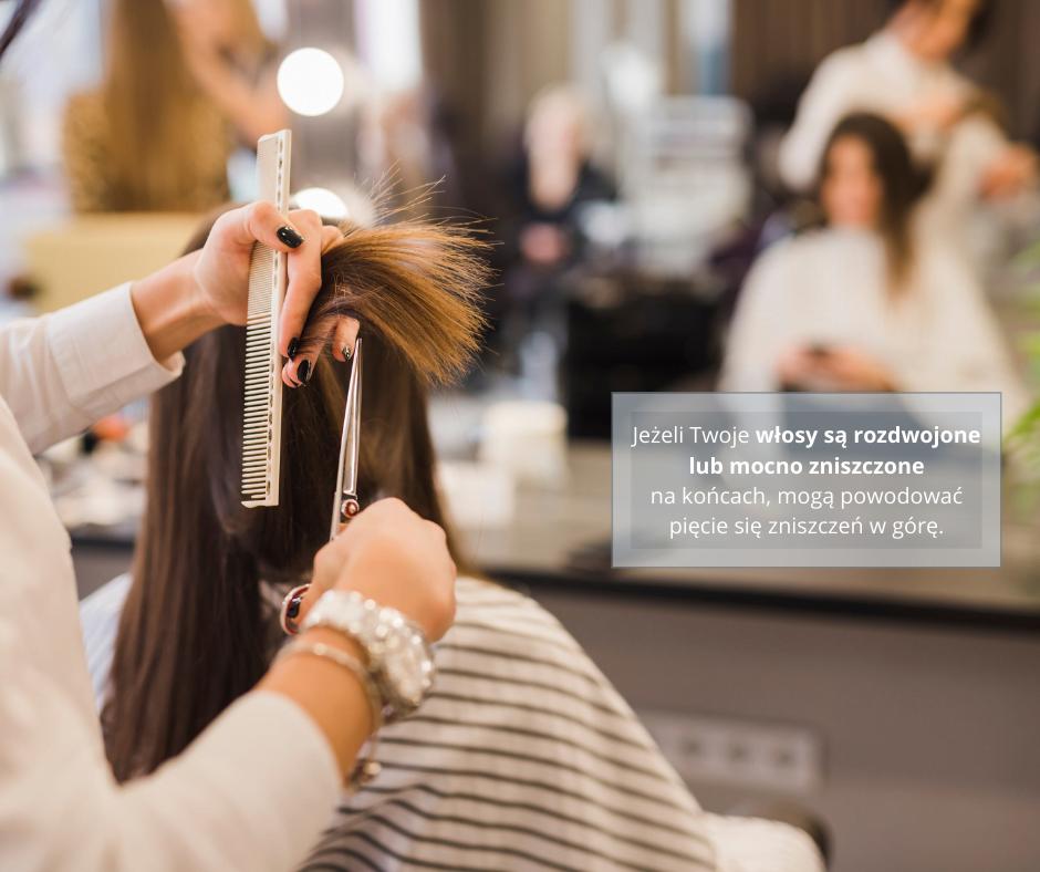 długie włosy - wizyta u fryzjera